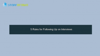 5 Rules for Following Up on Interviews